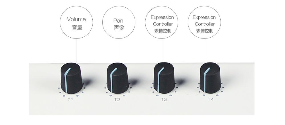 X8带四个可自由分配旋钮控制器