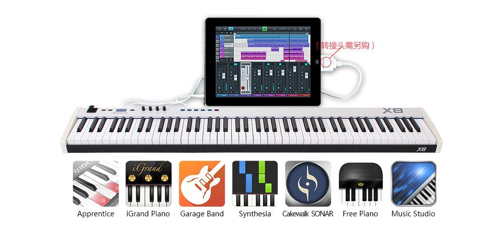 X8更可连接iPad