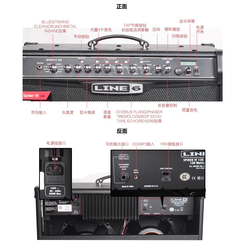 line6 Ⅳ 120 蜘蛛吉他音箱